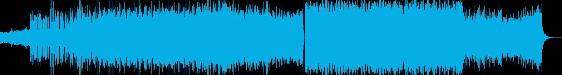 キラキラしたテクノポップの再生済みの波形