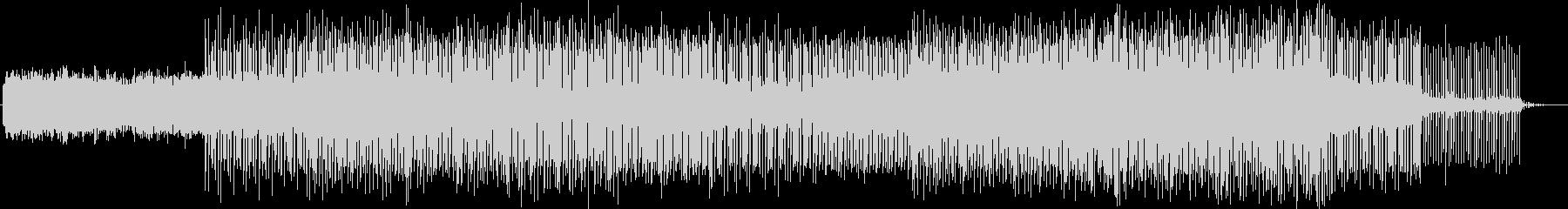 幻想的で疾走感のあるテクノ音楽の未再生の波形