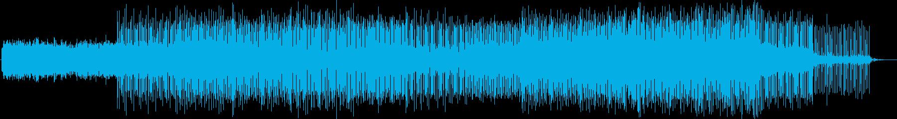 幻想的で疾走感のあるテクノ音楽の再生済みの波形