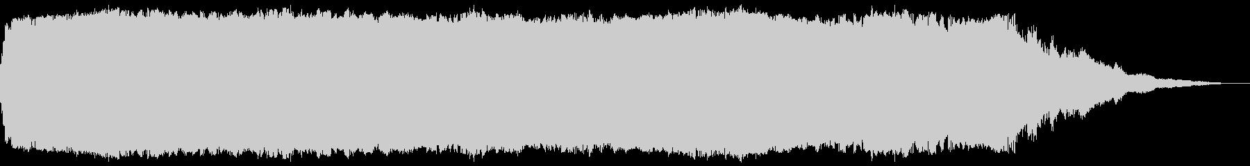 宇宙的な環境音の未再生の波形