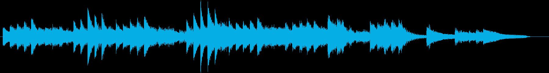 寒々しい冬の寂しく物悲しいピアノジングルの再生済みの波形