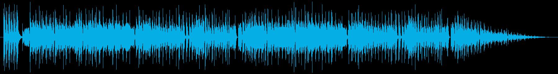 横スクロールアクションの海ステージBGMの再生済みの波形