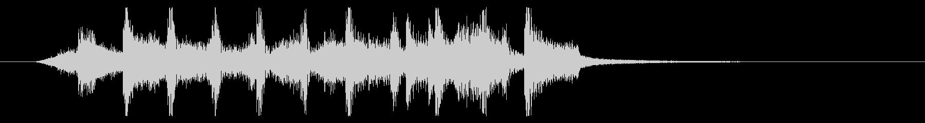 四つ打ちギターファンク ロゴ・ジングルの未再生の波形