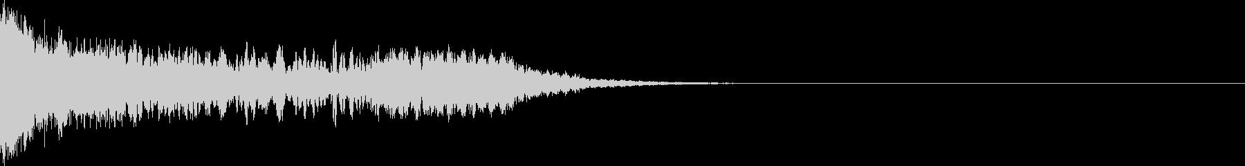 刀 剣 ソード カキーン キュイーン04の未再生の波形