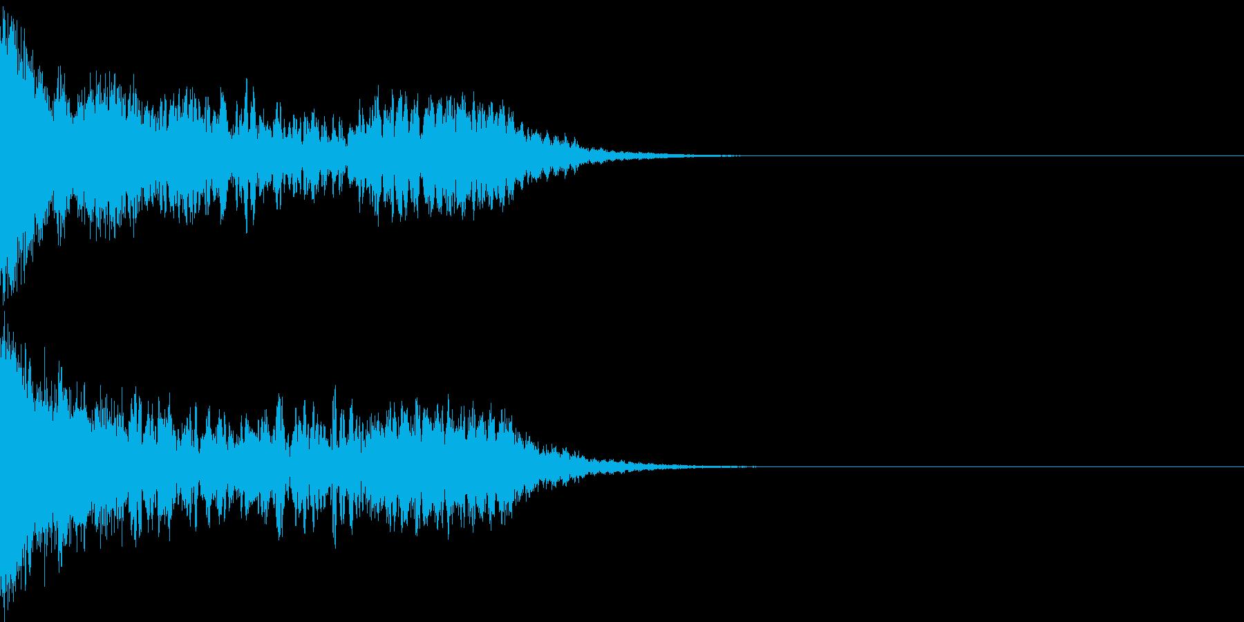 刀 剣 ソード カキーン キュイーン04の再生済みの波形