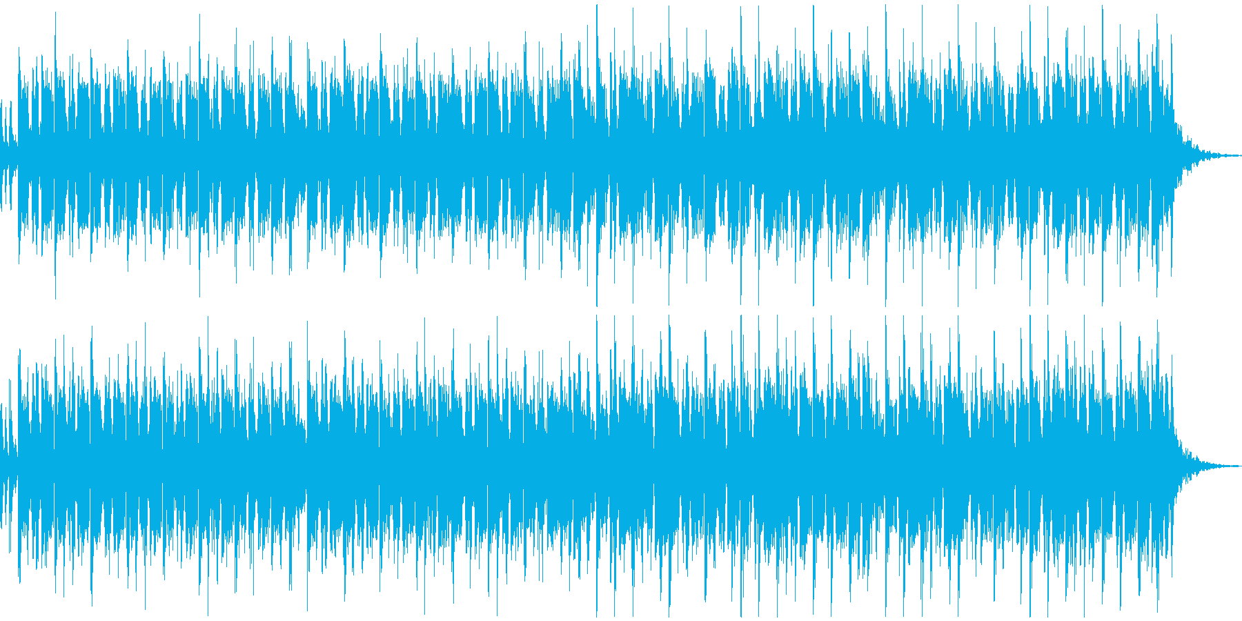 ペット、幼児、ほのぼのカワイイ系BGMの再生済みの波形