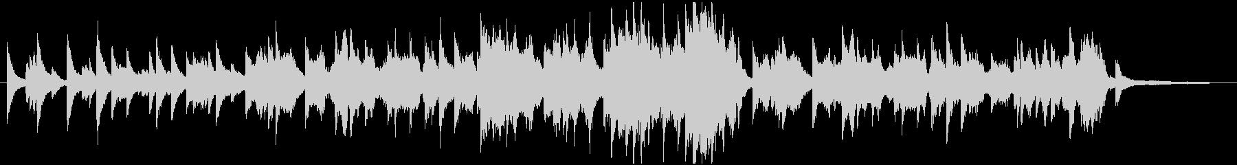 弦とピアノの優しいバラードの未再生の波形