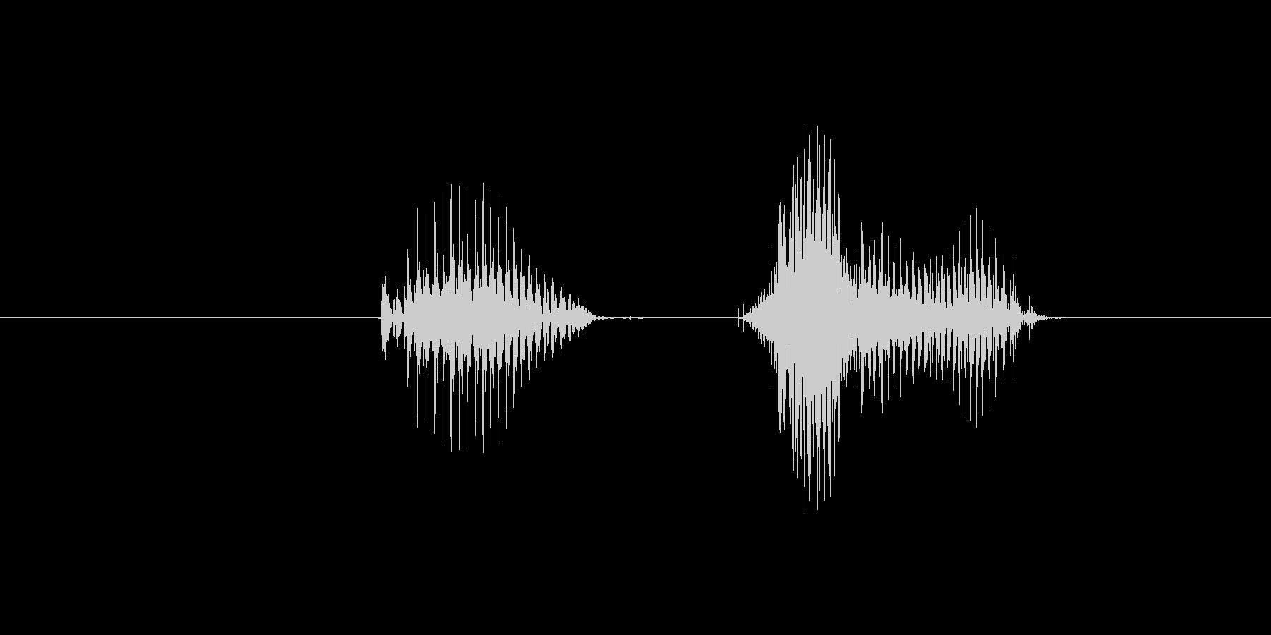 1(数字、女性)の未再生の波形