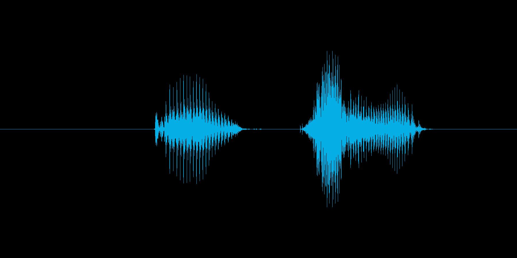 1(数字、女性)の再生済みの波形