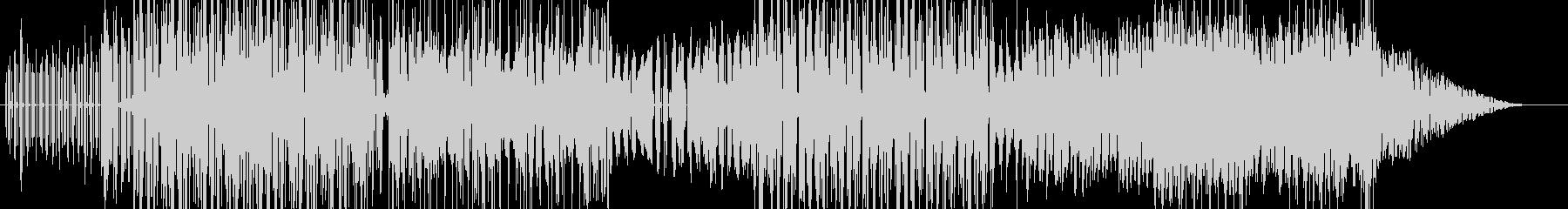 シンセサイザーを使った勢いのあるBGMの未再生の波形