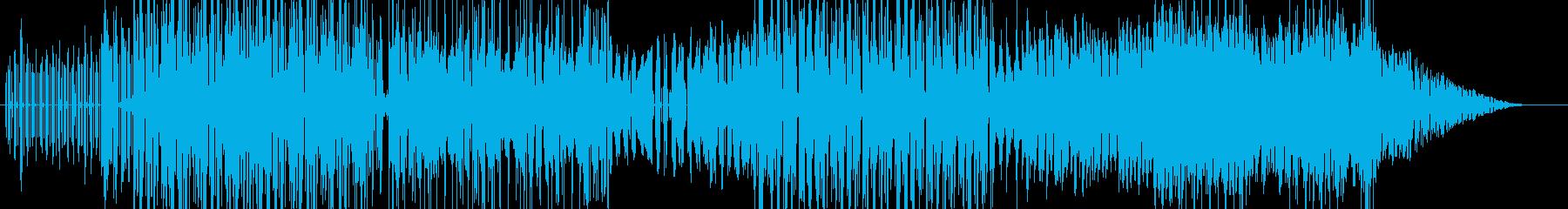 シンセサイザーを使った勢いのあるBGMの再生済みの波形