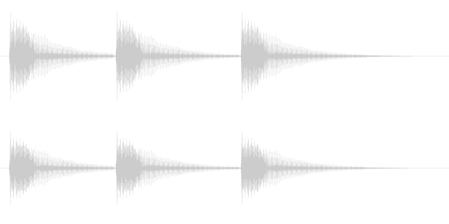 コミカルなボーイングの未再生の波形