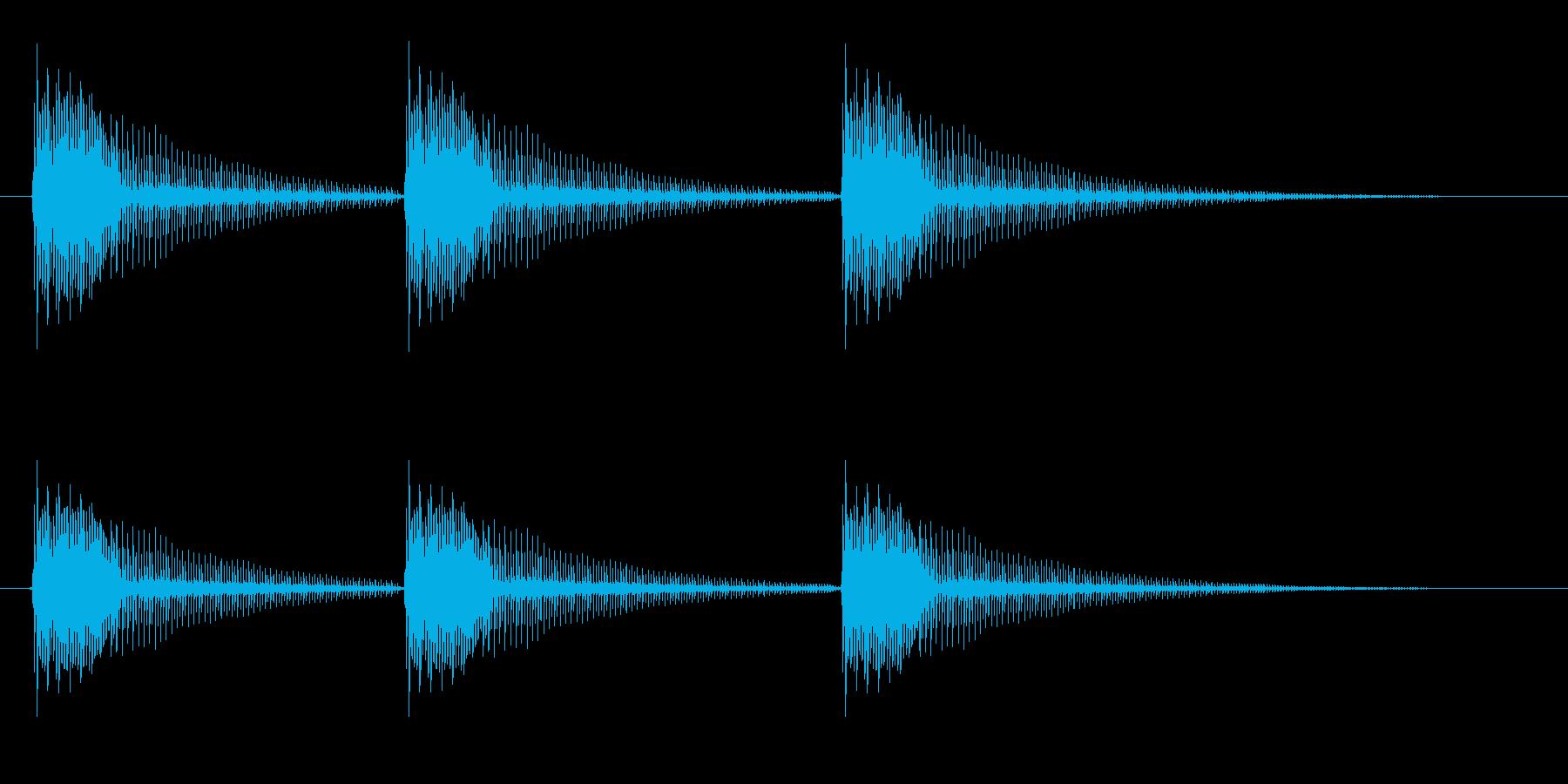 コミカルなボーイングの再生済みの波形