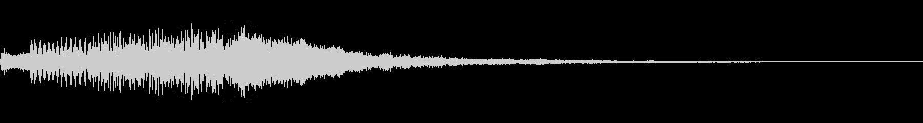 少し広がりのあるキラキラ音です。の未再生の波形