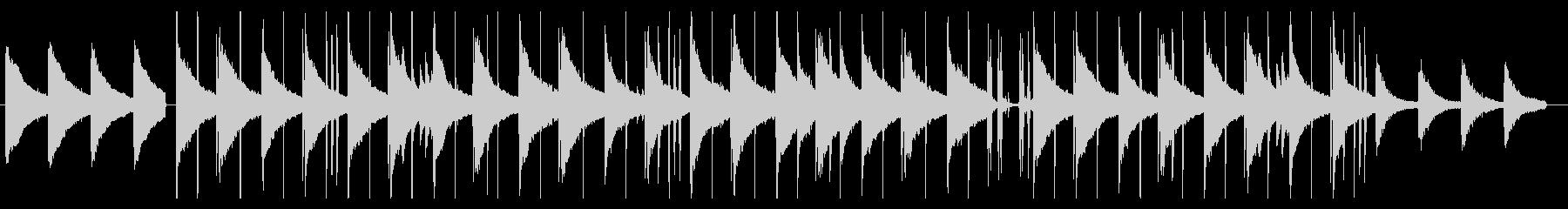 ピアノの落ち着いたLofi系バラードの未再生の波形