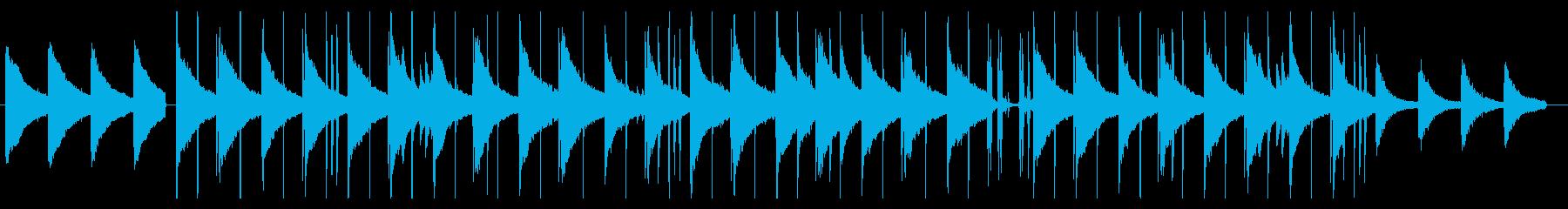 ピアノの落ち着いたLofi系バラードの再生済みの波形
