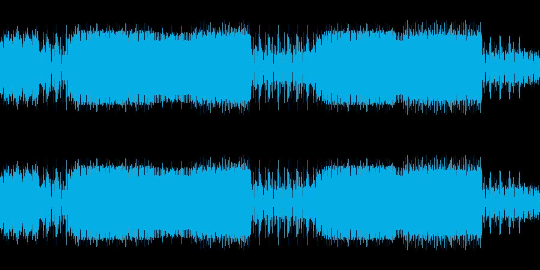 8ビットゲームサウンドBGM 02の再生済みの波形