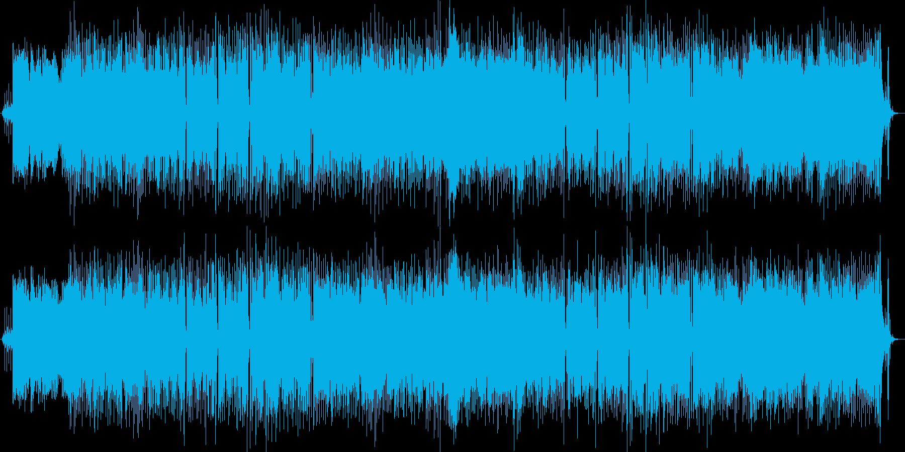 女声ボーカルのポップロックの再生済みの波形