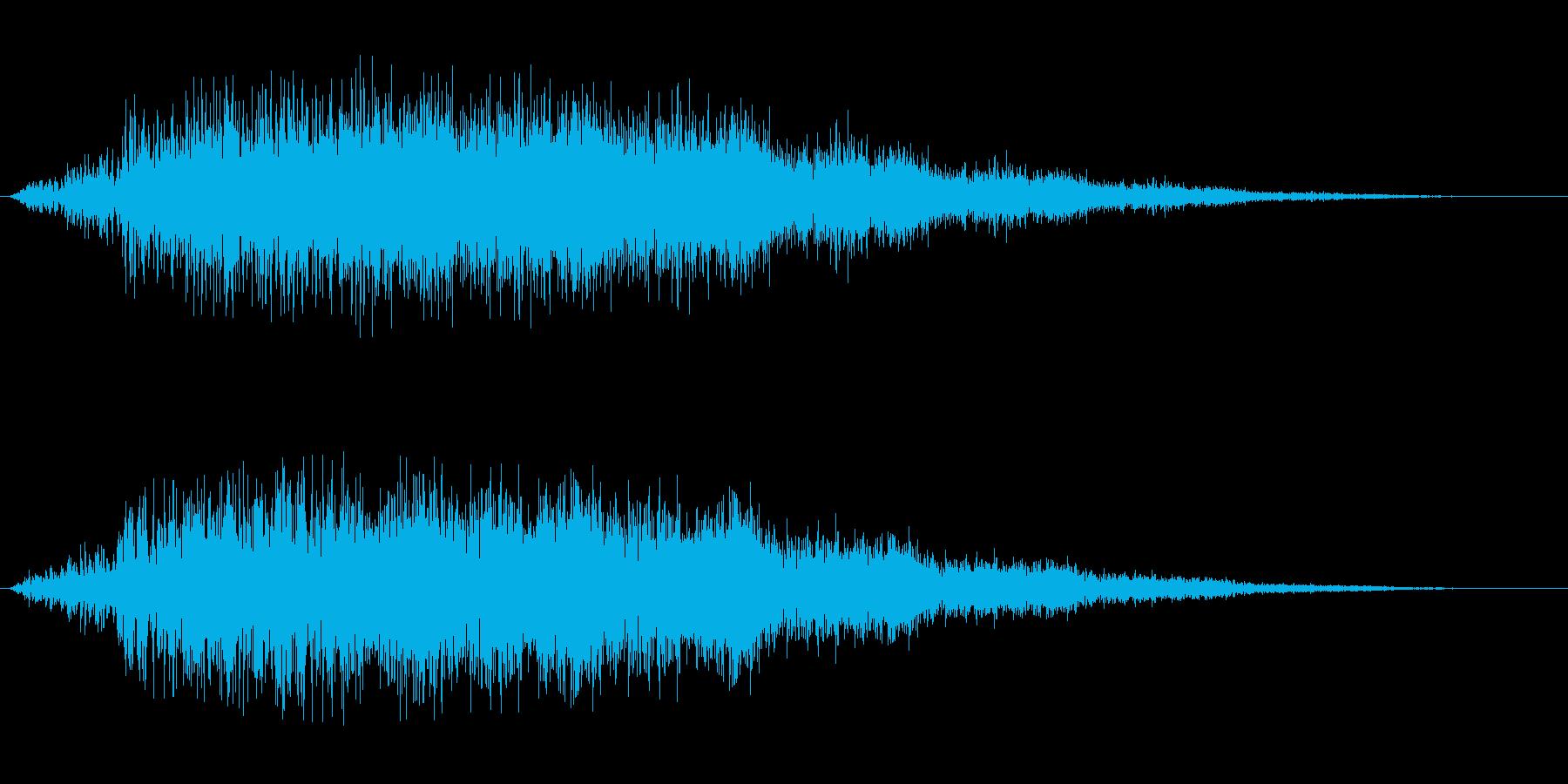 シャラララ(魔法等二次元に有効な音)の再生済みの波形