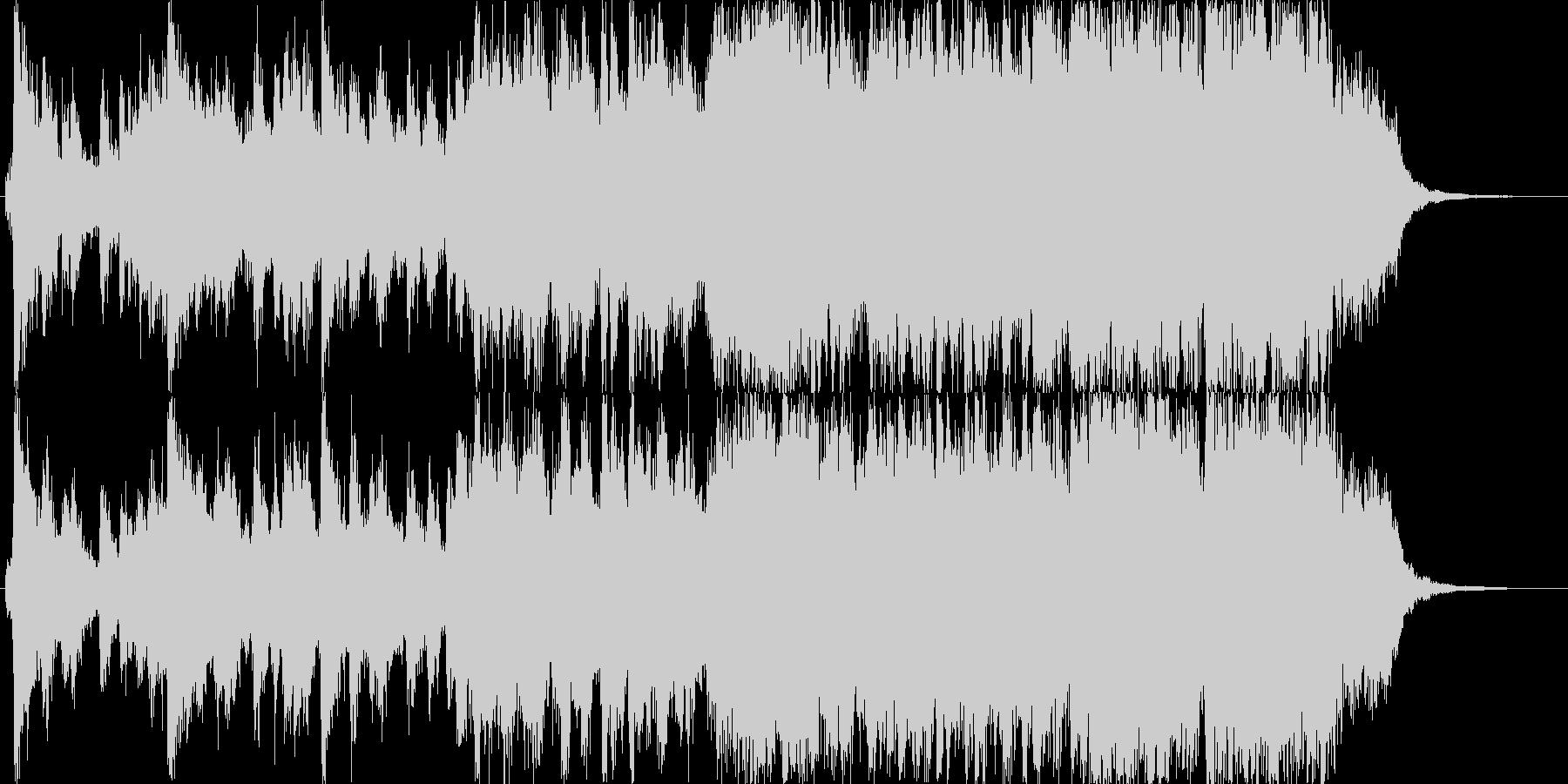 明るい希望に満ちたオーケストラジングル。の未再生の波形