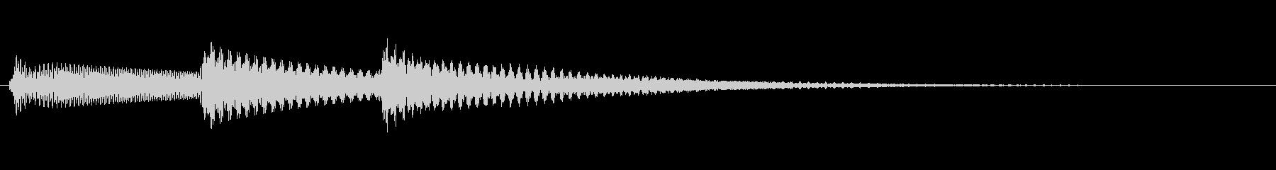 決定音 チャラランの未再生の波形