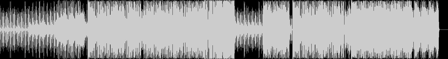 シリアスなメロディーのロックサウンドの未再生の波形