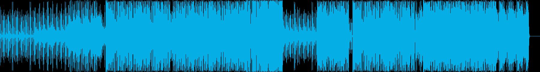 シリアスなメロディーのロックサウンドの再生済みの波形