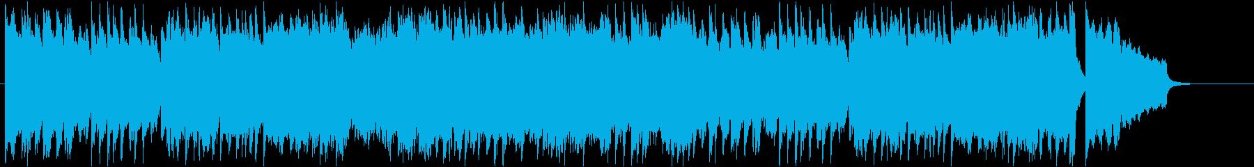 力強くも軽快な、テンポの速いピアノ曲の再生済みの波形