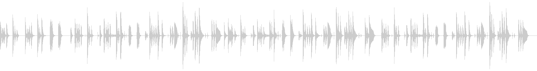 脱力感のあるほのぼの日常の未再生の波形