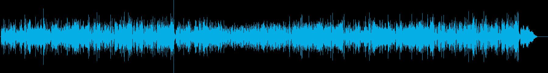 デジタル感覚でテクニカルなジャズ風の再生済みの波形