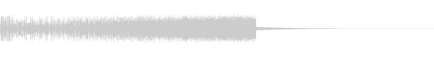 上昇音 シンセ01 【2秒】の未再生の波形