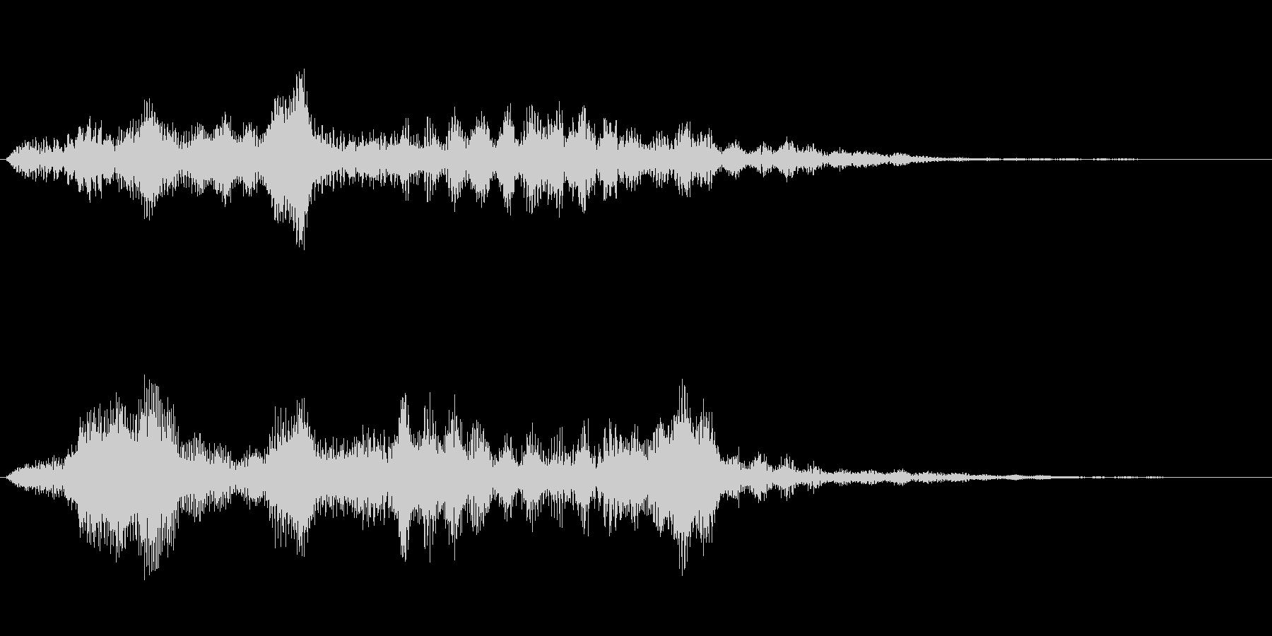 不気味な感じの効果音ですの未再生の波形