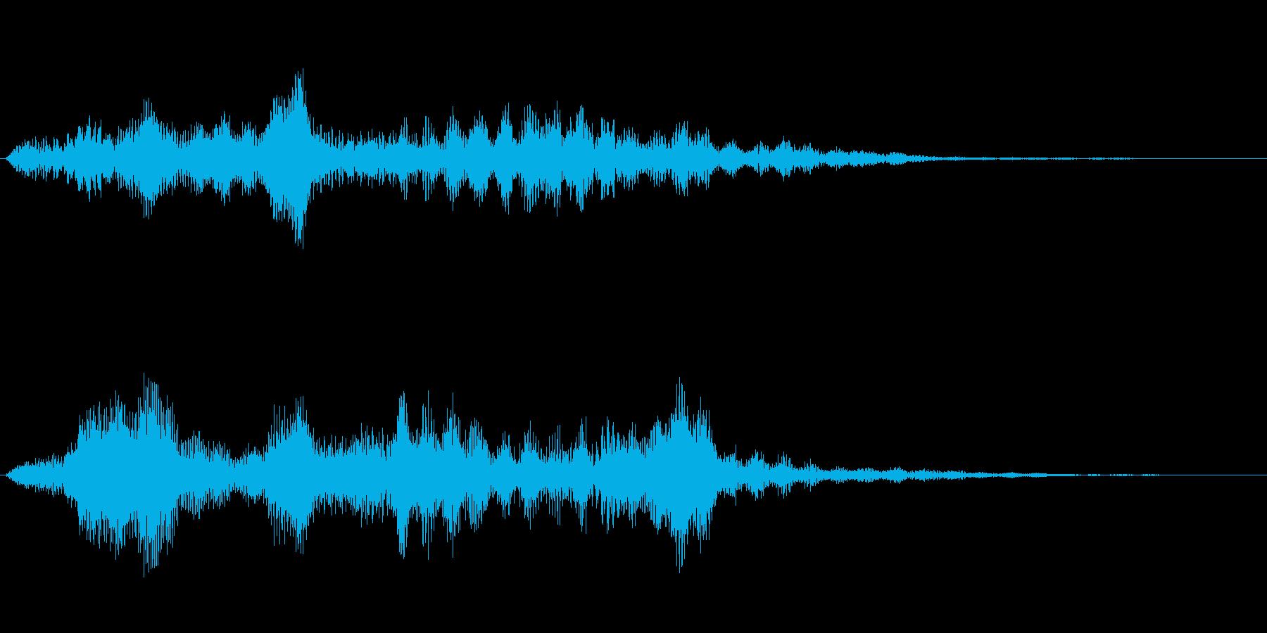 不気味な感じの効果音ですの再生済みの波形
