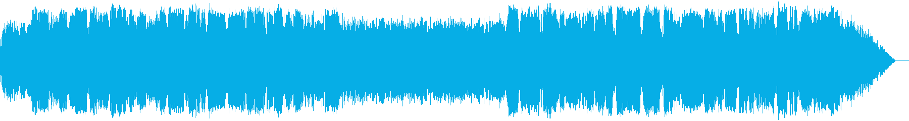 低音の竹笛とシンセサイザーの瞑想音楽の再生済みの波形