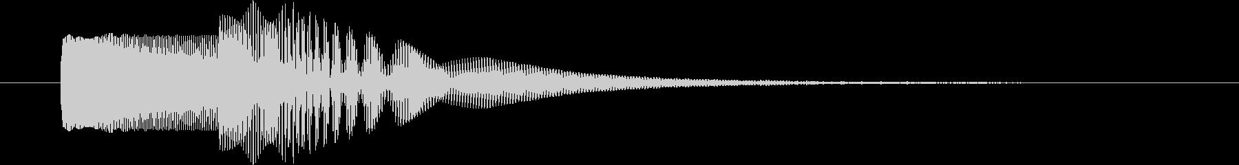 ヒューン(下がる)電子音の未再生の波形