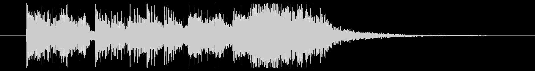 上がっていくノリのいいEDM系ジングルの未再生の波形