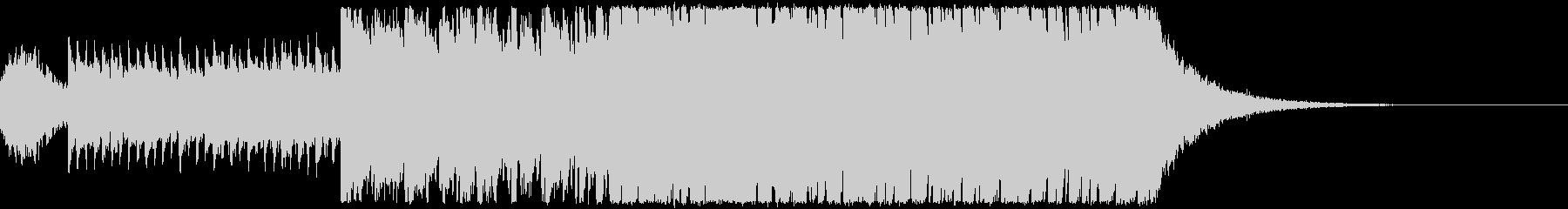 キラキラ&アップテンポなオープニング楽曲の未再生の波形