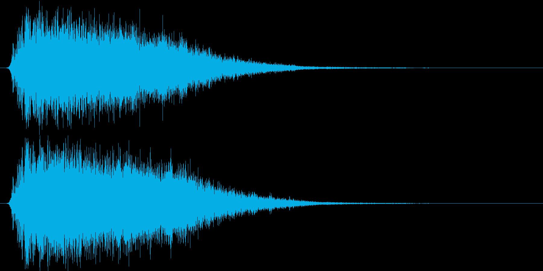 氷が砕ける・氷系魔法SE(プレーン版)sの再生済みの波形