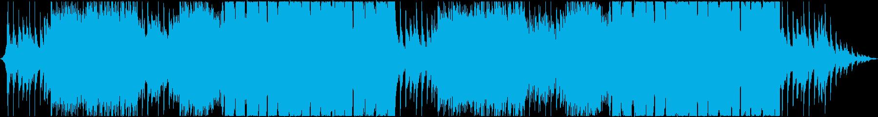 ピアノサウンドが特徴的なEDMの再生済みの波形