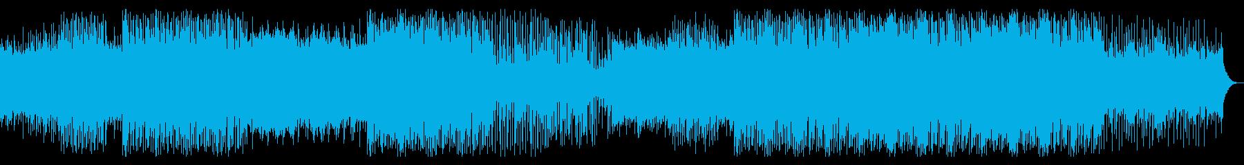 インド系の民族音楽風BGMの再生済みの波形