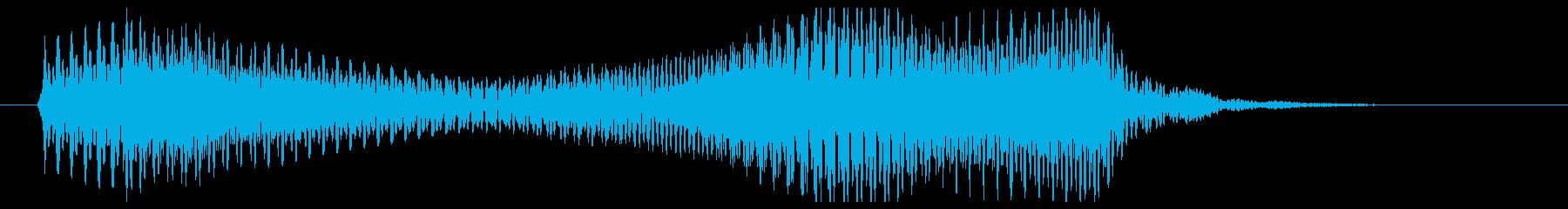 ポローン(柔らかめのシンセ音)の再生済みの波形