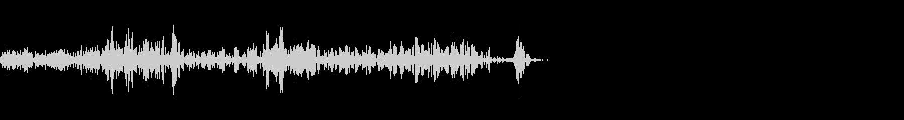 環境音 無線 通信 トランシーバーOFFの未再生の波形