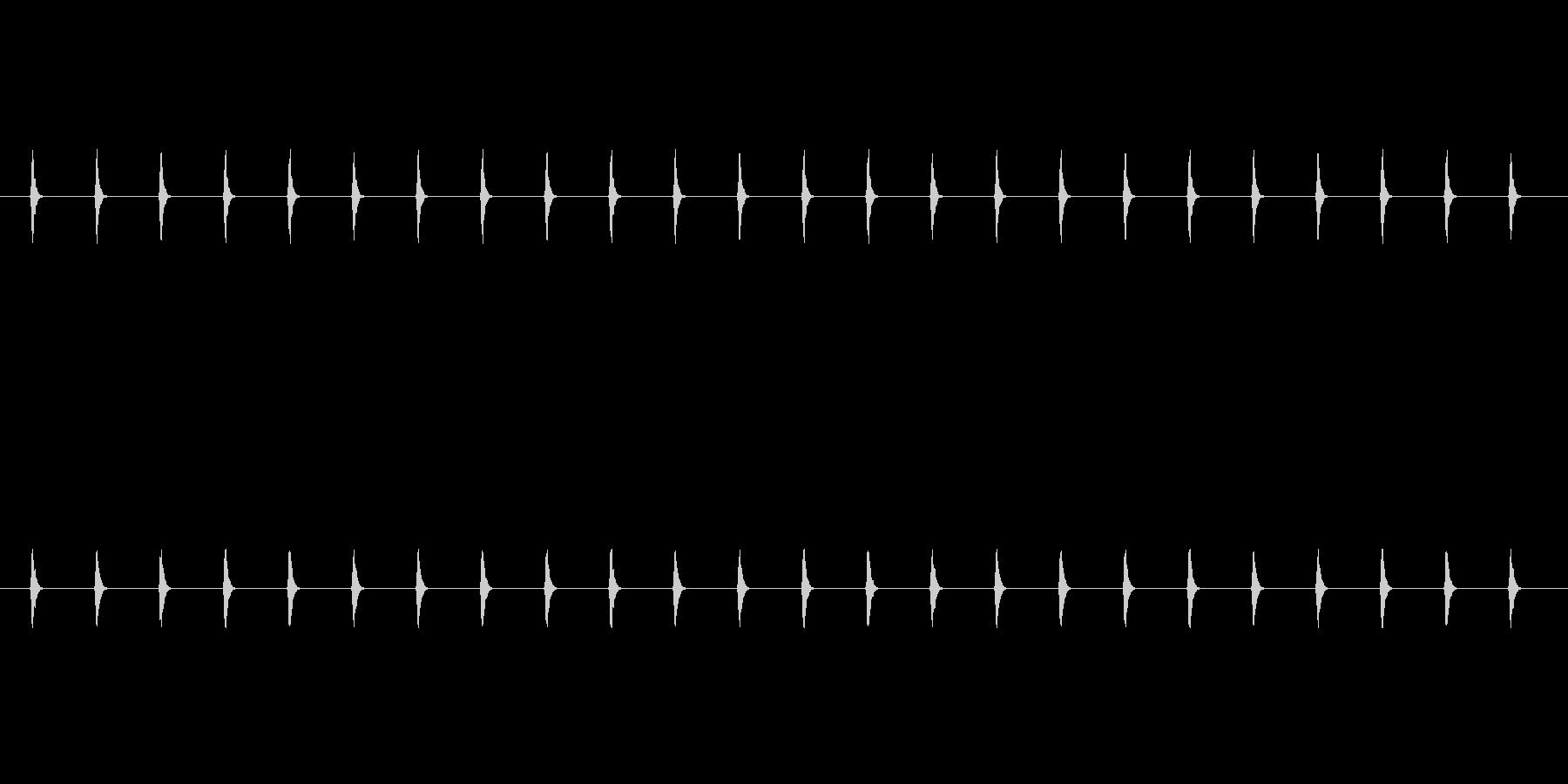 アラームビープパルス。遅い高音のカ...の未再生の波形