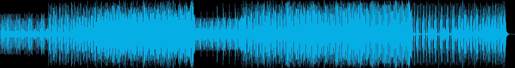 ニュースや商品説明・ポップなサイバー感の再生済みの波形