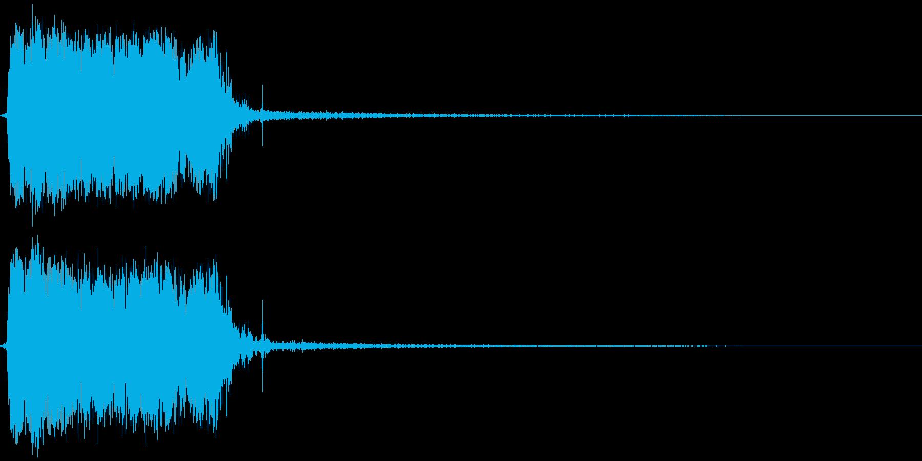 瞬間移動 ビシゥッ!の再生済みの波形