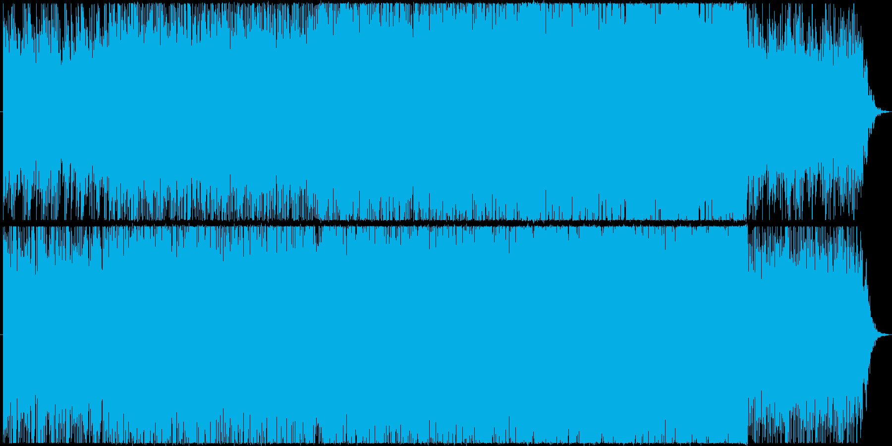 ピアノフレーズから展開するポップスBGMの再生済みの波形