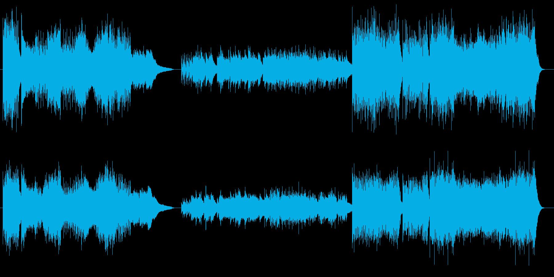 情熱的でかっこいいピアノのワルツの再生済みの波形