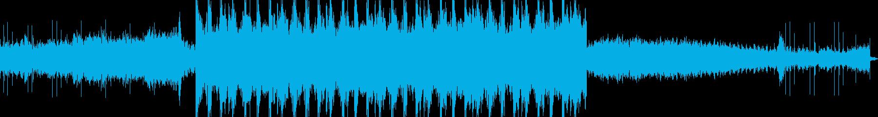 未来的で不思議な雰囲気のBGMの再生済みの波形