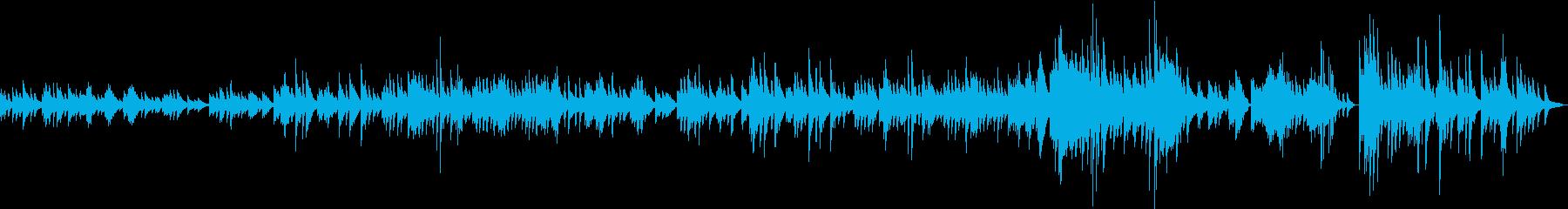 日本の夏をイメージしたゆったりした曲の再生済みの波形