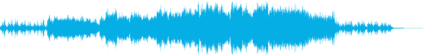 オーケストラとコーラスの感動的なBGMの再生済みの波形